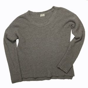 GUC MADEWELL WALLACE HONEYCOMB SWEATER, GRAY, M